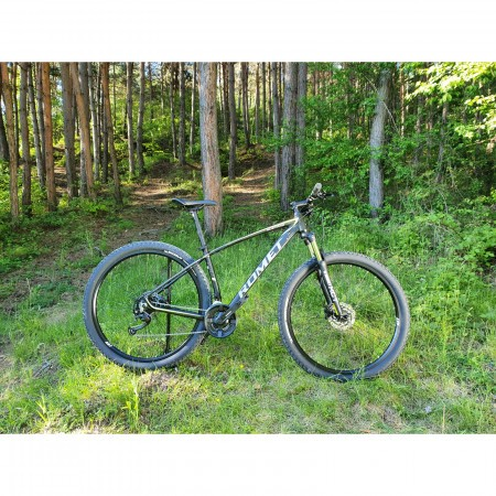 Bicicleta de munte unisex Romet Mustang M1 Negru/Verde 2022