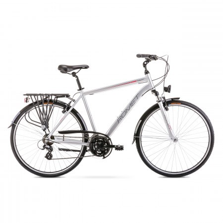 Bicicleta de trekking/oras pentru barbati Wagant 1 Argintiu/Rosu 2020