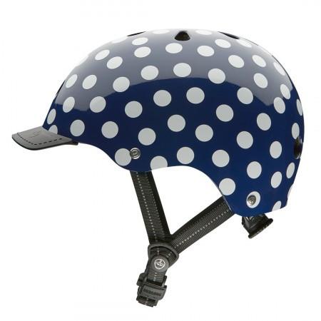 Profil Casca de protectie pentru femei Casca Nutcase Street Navy Dots