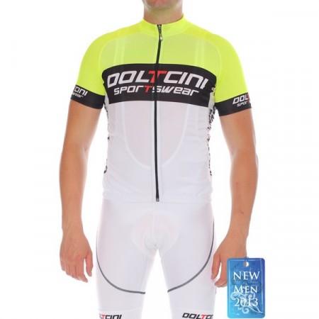 Doltcini Tricou Ciclism Bărbați Retro Fluo Green
