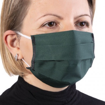 Masca de protectie reutilizabila dublu strat cu pliuri Verde inchis