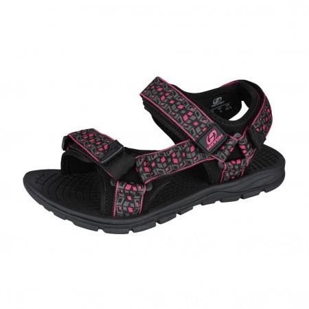 Sandale femei Hannah Feet Negru/Gri/Roz