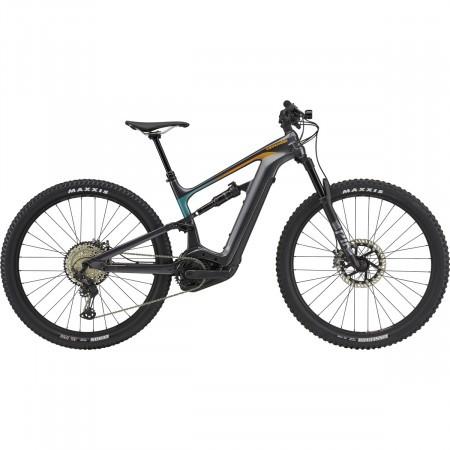 Bicicleta electrica Cannondale Habit Neo 1 Gri/Turcoaz/Portocaliu 2021