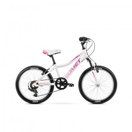 Bicicleta pentru copii Romet Jolene 20 Kid 2 S/10 Alb/Violet/Roz 2021