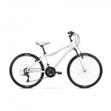 Bicicleta pentru copii Romet Jolene 24 S/13 Alb/Albastru/Roz 2021