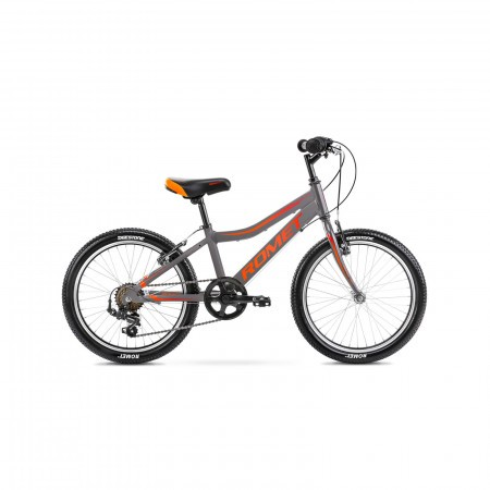 Bicicleta pentru copii Romet Rambler 20 Kid 1 S/10 Grafit/Rosu/Portocaliu 2021