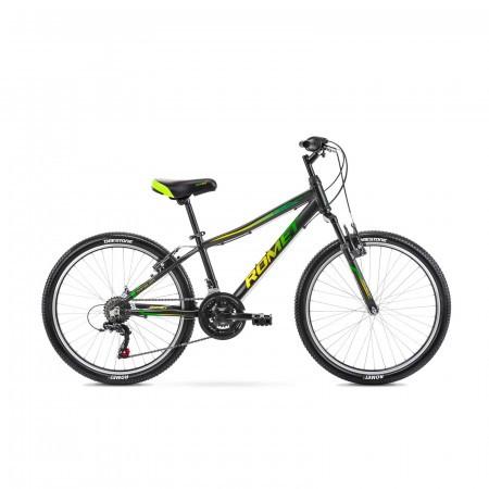 Bicicleta pentru copii Romet Rambler 24 S/13 Negru/Verde 2021