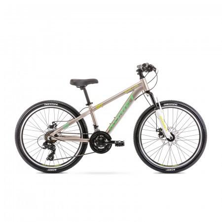 Bicicleta pentru copii Romet Rambler Dirt 24 S/12 Gri/Verde 2021