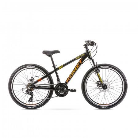 Bicicleta pentru copii Romet Rambler Dirt 24 S/12 Negru/Portocaliu 2021