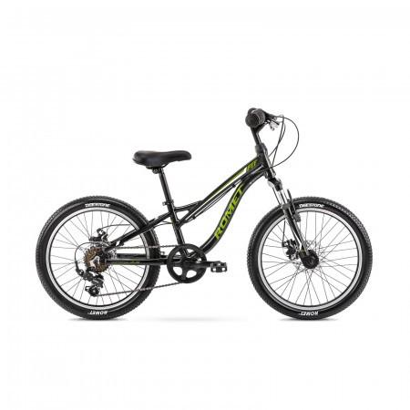 Bicicleta pentru copii Romet Rambler Fit 20 S/10 Negru/Verde 2021