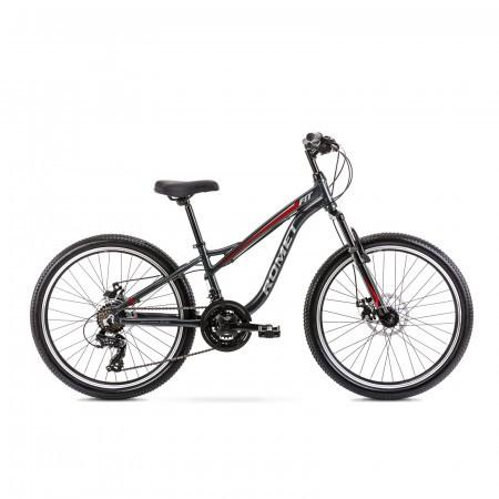 Bicicleta pentru copii Romet Rambler Fit 24 S/12 Grafit/Rosu 2021