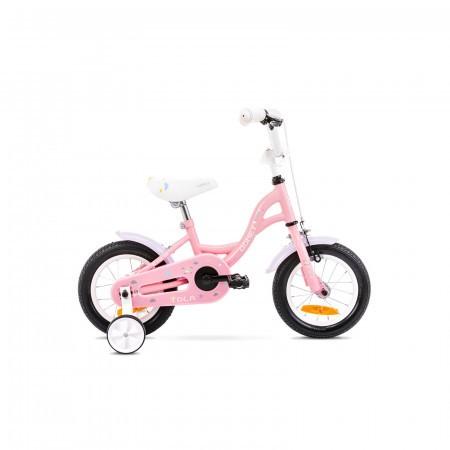 Bicicleta pentru copii Romet Tola 12 S/7 Roz/Alb 2021