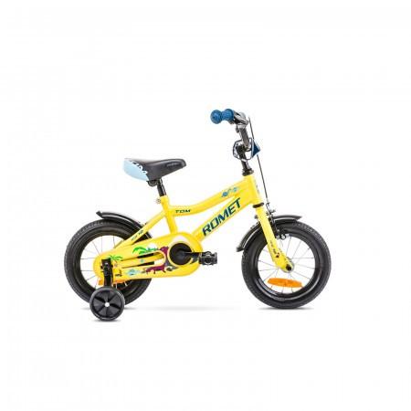 Bicicleta pentru copii Romet Tom 12 S/7 Galben/Albastru 2021