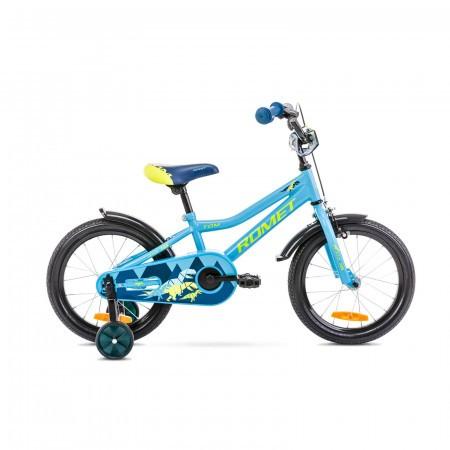 Bicicleta pentru copii Romet Tom 16 S/9 Albastru/Verde 2021