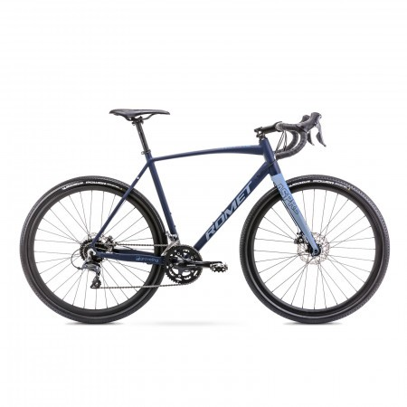 Bicicleta de gravel unisex Romet Aspre 1 Bleumarin/Albastru 2021
