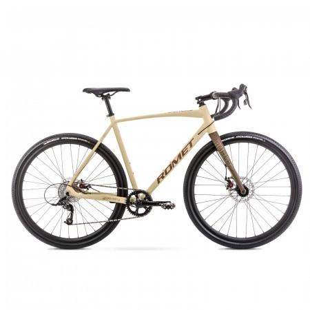 Bicicleta de gravel unisex Romet Boreas 1 Bej/Maro 2021
