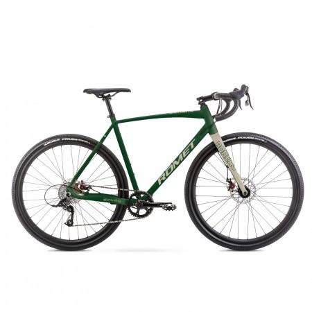 Bicicleta de gravel unisex Romet Boreas 1 Verde inchis/beige 2021