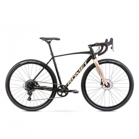 Bicicleta de gravel unisex Romet Boreas 2 Negru/Bej 2021