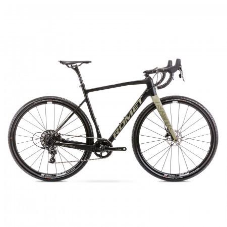 Bicicleta de gravel unisex Romet Nyk Negru/Oliv 2021
