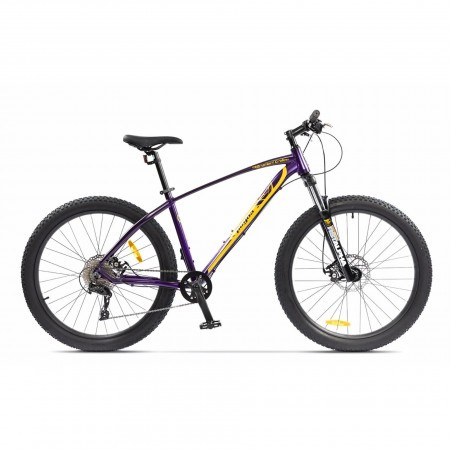 Bicicleta de munte pentru barbati Pegas Drumuri Grele 18.5 inch Mov/Galben