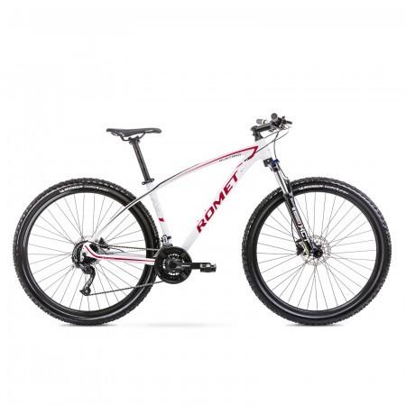 Bicicleta de munte unisex Romet Mustang M1 Alb/Rosu 2021
