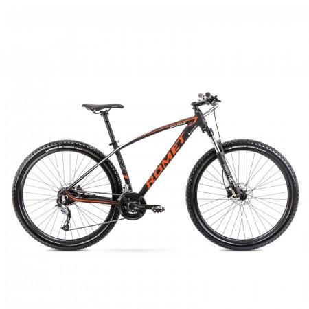Bicicleta de munte unisex Romet Mustang M1 Negru/Portocaliu 2021