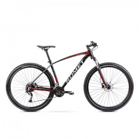 Bicicleta de munte unisex Romet Mustang M2 Negru/Rosu 2021