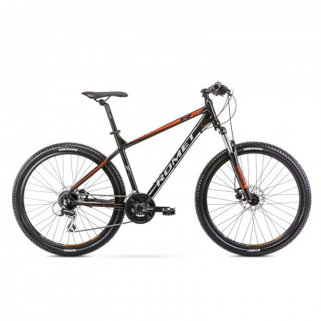 Bicicleta de munte pentru barbati Romet Rambler R7.2 Negru/Portocaliu 2021