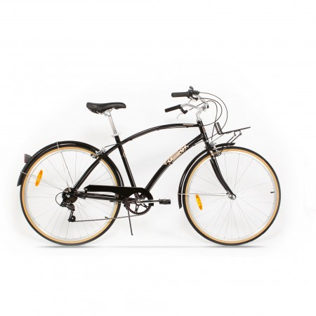 Bicicleta de oras pentru barbati Pegas Popular 7 viteze Aluminiu Negru Stelar