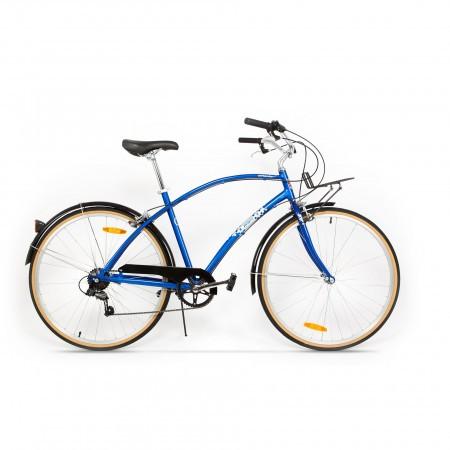Bicicleta de oras pentru barbati Pegas Popular 7 viteze AluminiuAlbastru Calator