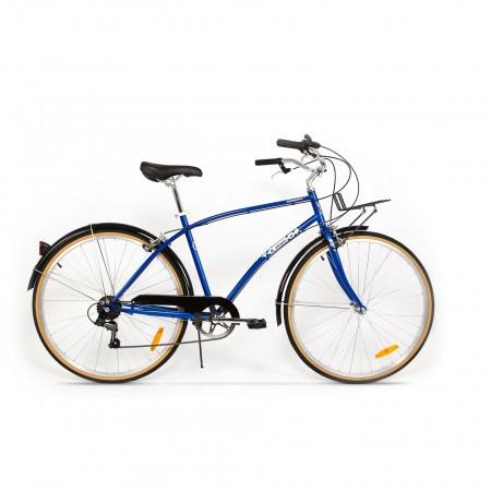 Bicicleta de oras pentru barbati Pegas Popular 7 viteze Otel Albastru Calator