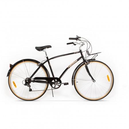 Bicicleta de oras pentru barbati Pegas Popular 7 viteze Otel Negru Stelar