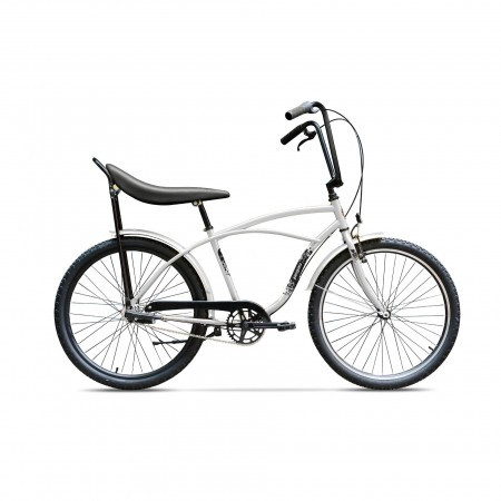 Bicicleta de oras pentru barbati Pegas Strada 1 Aluminiu 3S Alb Perlat