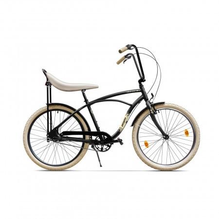Bicicleta de oras pentru barbati Pegas Strada 1 Negru Mat 3 viteze
