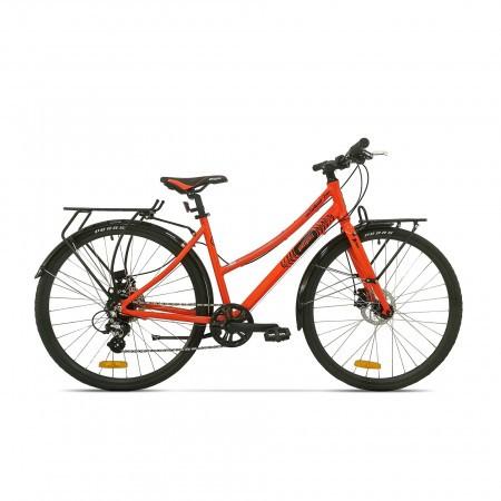Bicicleta de oras pentru femei Pegas Hoinar 8S Portocaliu Neon