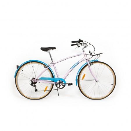 Bicicleta de oras pentru femei Pegas Popular 7 viteze Aluminiu Roz Bujor