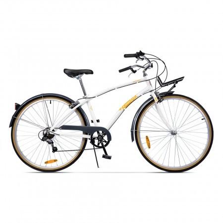 Bicicleta de oras pentru femei Pegas Popular 7 viteze AluminiuAlb Perlat