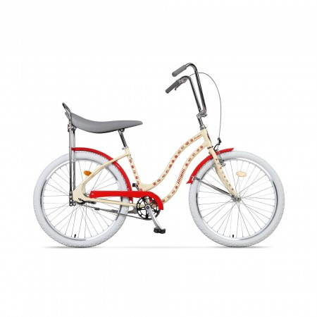 Bicicleta de oras pentru femei Pegas Strada 2 2S Crem Flori