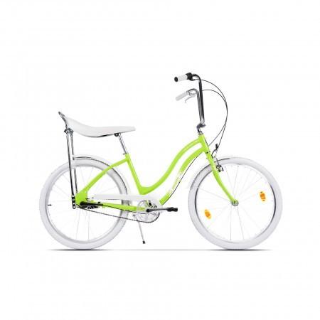 Bicicleta de oras pentru femei Pegas Strada 2 3S Verde Neon