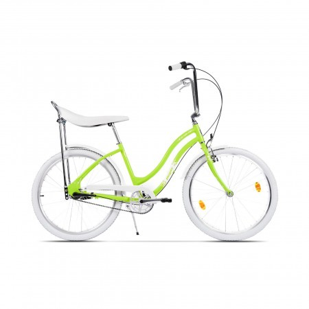 Bicicleta de oras pentru femei Pegas Strada 2 Aluminiu 3S Verde Neon