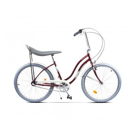 Bicicleta de oras pentru femei Pegas Strada 2 Aluminiu 3S Visiniu Cochet