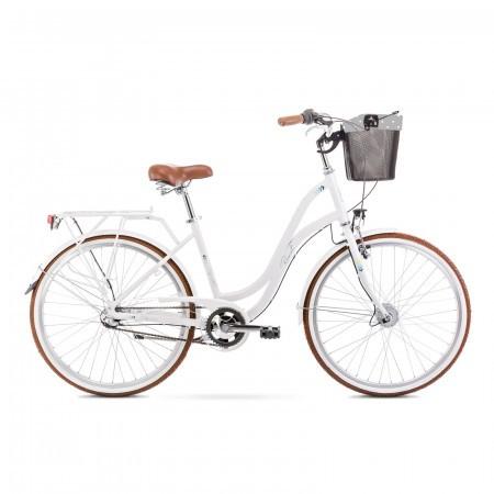 Bicicleta de oras pentru femei Romet Pop Art 26 Alb 2021