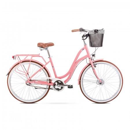 Bicicleta de oras pentru femei Romet Pop Art 26 Roz/Gri 2021
