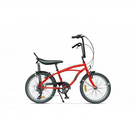 Bicicleta de oras unisex Pegas Strada Mini 2017 7 viteze Rosu Bomboana