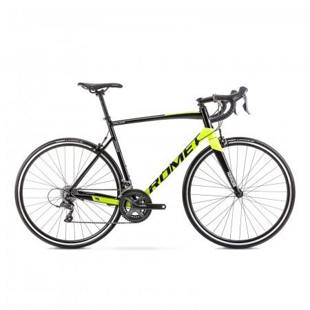 Bicicleta de sosea unisex Romet Huragan 2 Negru/Lime 2021