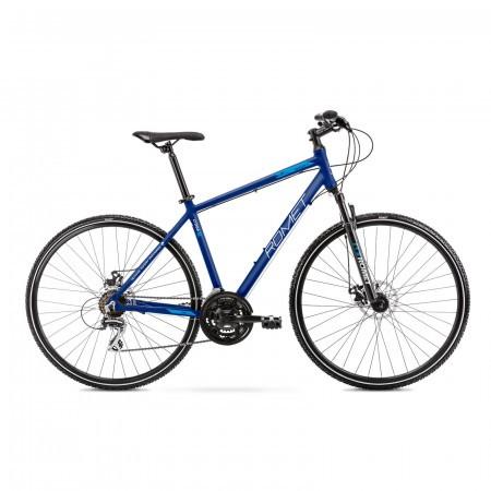 Bicicleta de trekking pentru barbati Romet Orkan 1 M Albastru 2021