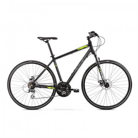 Bicicleta de trekking pentru barbati Romet Orkan 1 M Negru/Verde 2021