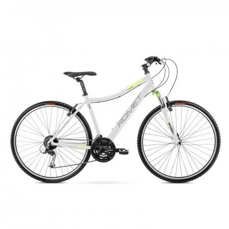 Bicicleta de trekking pentru femei Romet Orkan 2 D Alb/Verde 2021