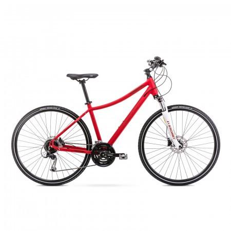Bicicleta de trekking pentru femei Romet Orkan 6 D Rosu 2021