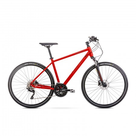 Bicicleta de trekking pentru barbati Romet Orkan 7 M Rosu 2021